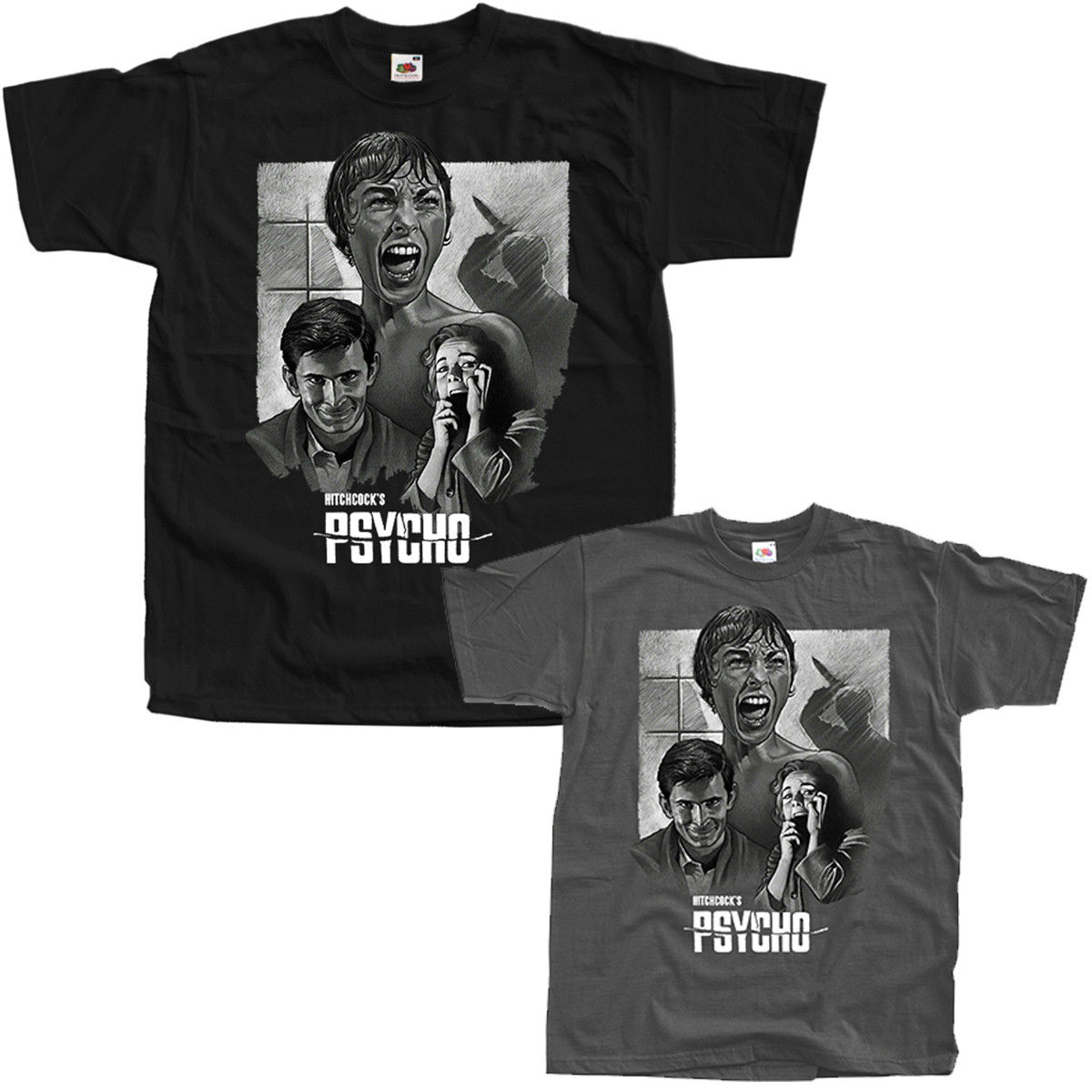 Psycho V2 Alfred Hitchcock movie 1960 T Shirts BLACK ALL SIZES S 5XL 2020 High quality Brand T shirt Casual Short sleeve O-neck image