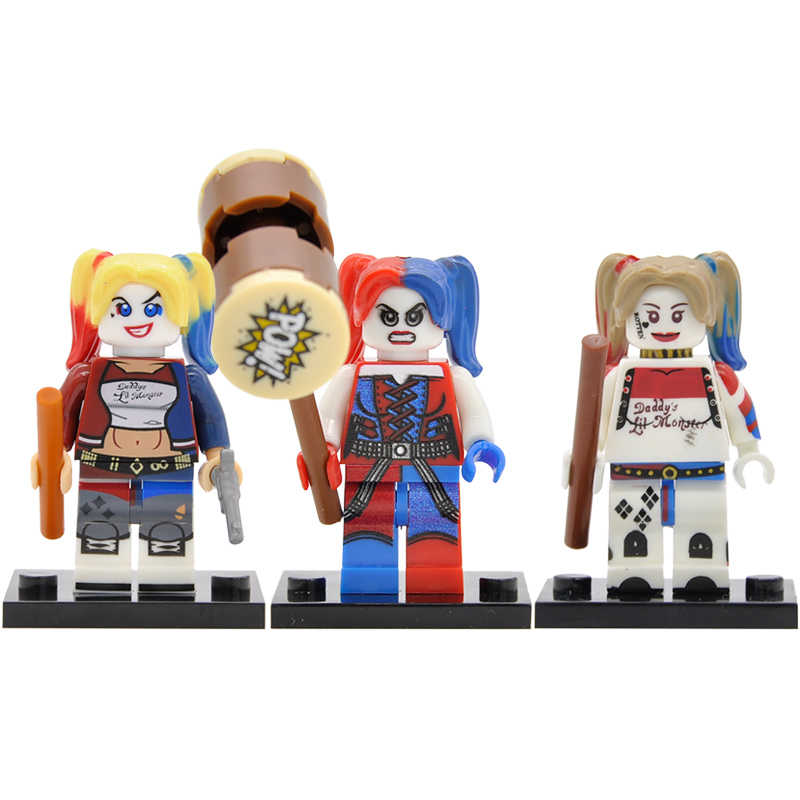 DC Harley Quinn Joker Figure Building Blocks Super Hero Superhero Sets Models Bricks Toys For Children Legoing