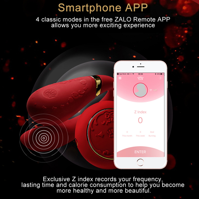 Vibrador de doble cabeza ZALO parejas G Spot estimulador de silicona tipo U aplicación inalámbrica vibrador de control remoto juguetes sexuales para Mujer ropa