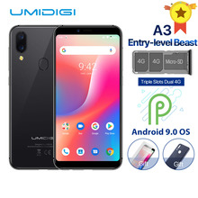 "UMIDIGI A3 Global Band Dual 4G 5.5""incell HD+display 2GB+16GB Mobile Phone Quad Core Android 9.0 Face Unlock 12MP+5MP Smartphone"