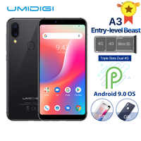 """UMIDIGI A3 Globale Band Dual 4G 5,5 """"incell HD + display 2GB + 16GB Handy quad Core Android 9.0 Gesicht Entsperren 12MP + 5MP Smartphone"""