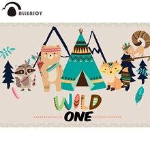 Allenjoy sauvage une photographie toile de fond renard indien animal tente fête danniversaire arrière plan enfants photocall photobooth accessoires nouveau