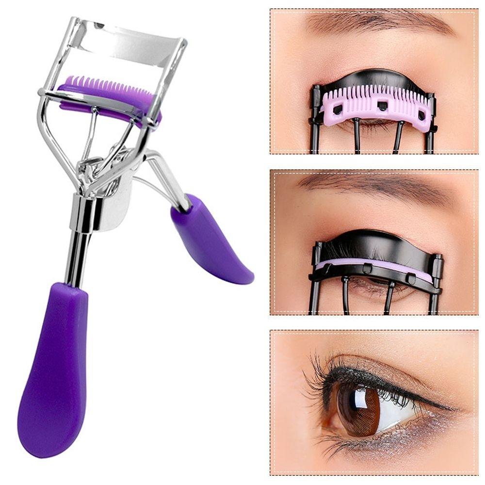 1PC Comb Eyelash Curler Professional Eyelash Curler Folding False Eyelashes Auxiliary Eyelash Curling Clip Small Makeup Tools