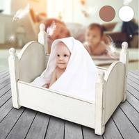 Mini Wood Newborn Baby Bed Detachable Wooden Photography Photo Props For Shoot Home Room Livingroom Children Beds Kids Furniture