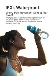 Image 3 - Bluetoothイヤホンワイヤレスヘッドフォンbluetooth 5.0 スポーツヘッドセット防水IPX4 ノイズ重低音ステレオイヤフォン/マイク