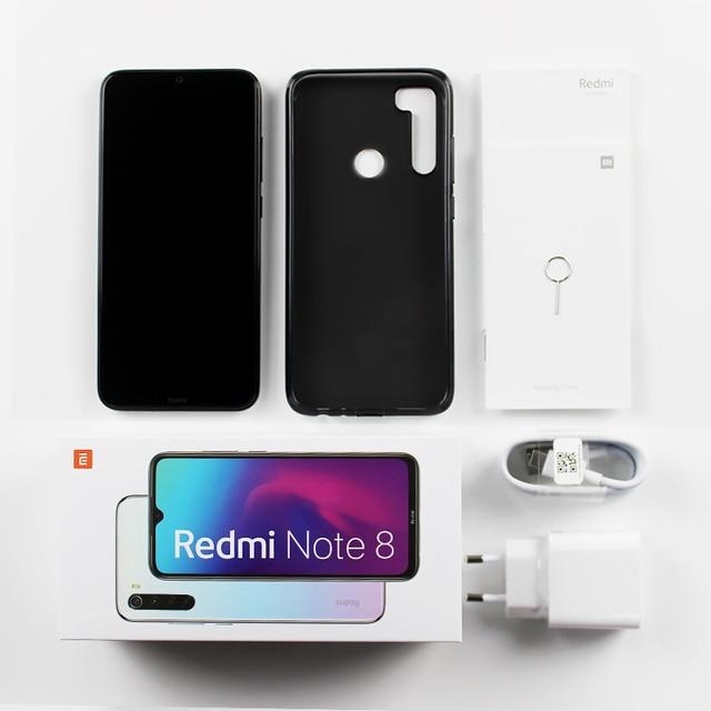 Xiaomi Redmi Note 8 Version mondiale 4 go RAM 64 go ROM Snapdragon 665 Octa Core téléphone portable 6.3  5