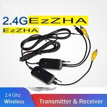 EzZHA Auto Rückansicht Kamera Wifi Drahtlose Verdrahtung Kit 2,4 GHz DC 12V 24V Fahrzeug Kameras RCA Video drahtlose Sender/Empfänger