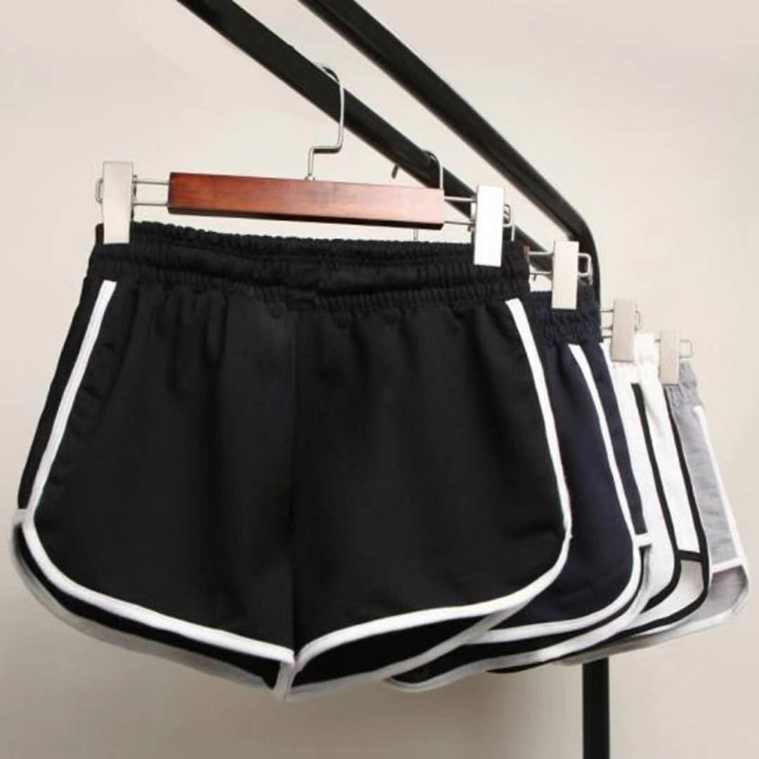 Big Size 2020 Summer Women Ladeis Fashion Clothings Casual Solid Shorts High Elastic Waisted Fitness Casual Shorts