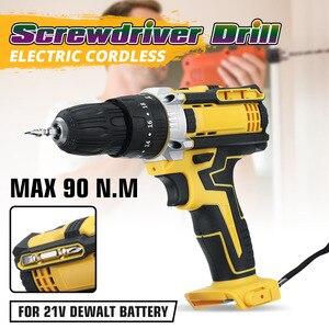 Wiertarka elektryczna 3 w 1 akumulatorowa podwójna prędkość wiertarka ręczna elektryczny miniśrubokręt z lampa robocza LED do akumulatora DEWALT 21V