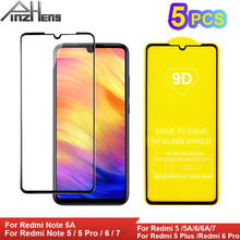 5Pcs Tempered Glass For Xiaomi Redmi Note 7 6 5 Pro 5A Screen Protector Protective Plus 6A Film