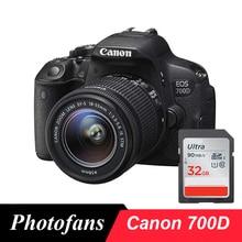 Câmera digital canon 700d/rebel t5i dslr com lente 18 55mm 18 mp vídeo completo hd 1080p tela sensível ao toque vari angle (novo)