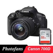 Canon 700D / Rebel T5i DSLR dijital kamera ile 18 55mm Lens  18 MP  Full HD 1080p Video değişken açılı dokunmatik ekran (yeni)