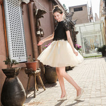 2019 Summer Lovely Fluffy Soft Tulle Tutu Skirt Pettiskirt 26 Colors Skirts for Mother Daughter Pleated Skirts(China)