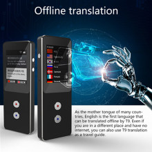 Portable Smart Wireless Voice Translator Support Speech Recognition and Photo Translation Overseas Travel Real Time Translators