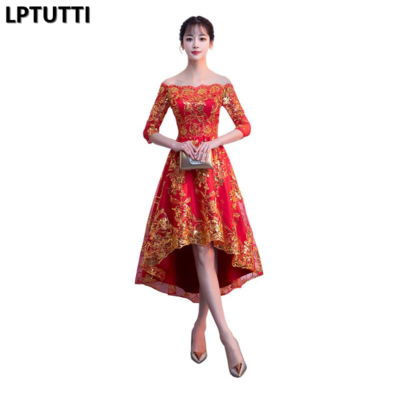 LPTUTTI Lace Sequin New Sexy Woman Social Festive Elegant Formal Prom Party Gowns Fancy Short Luxury   Cocktail     Dresses