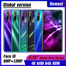 4 gb ram 64 gb rom 9 s quad core 13mp face id desbloqueado 6.26 polegada água gota tela smartphones telefones celulares android celulares wifi