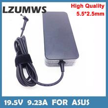 180W Notbook zasilacz 19 5V 9 23A 5 5*2 5mm Adapter do laptopa Asus FX503VM seria Gaming Notbook AC ładowarka tanie tanio LZUMWS CN (pochodzenie) 19 5 v For HP SA-1805525 19 5v 9 23A 180W for Asus FX503VM Serie Portable Charger For asus black