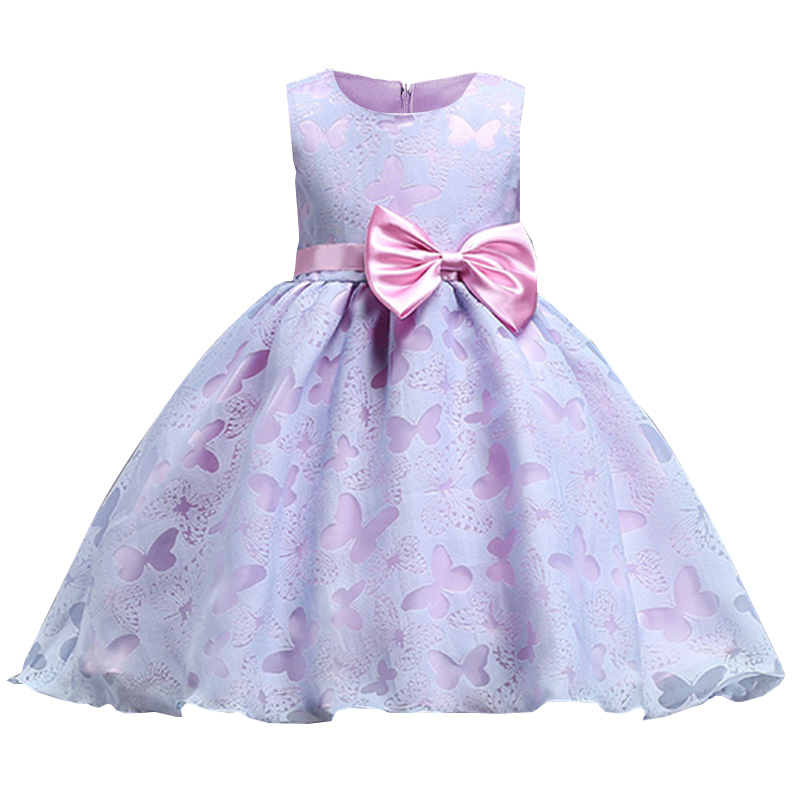 2019 butterfly   flower     girl     dresses   for weddings vestidos de primera comunion 2019 baby pageant ball gown costume