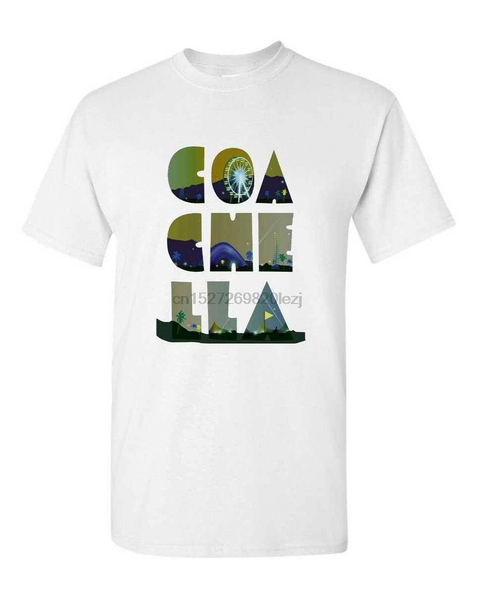Coachella 2019 Kaos-T-shirt Merek Pakaian Kemeja TEE