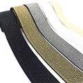 Блестящий золотистый Серебристый эластичные ленты 10/15/25/40 мм, Высококачественная нейлоновая поясная лента для одежды, брюк, «сделай сам», Шв...