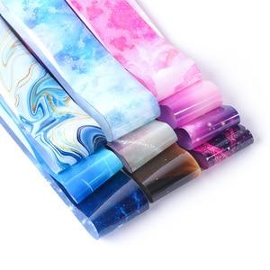Image 5 - 10 stuks Inkt Gradiënt Nail Folies Nail Art Sliders Stickers Wraps Sterrenhemel Lijm Transfer Folie Set Manicure Ontwerpen TRXKH40 57