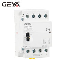Free Shipping GEYA Manual Contactor 4P 40A 63A 4NO 220V Din rail Household AC Modular