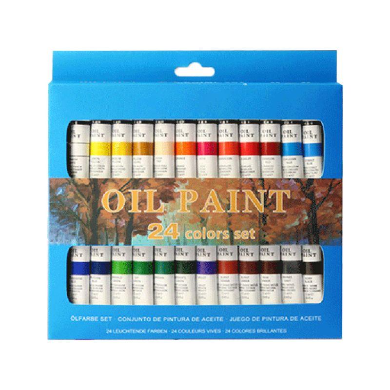 Профессиональный пигмент для рисования масляной краской, 24 цвета, набор трубок 12 мл, товары для рукоделия художника Масляные краски      АлиЭкспресс