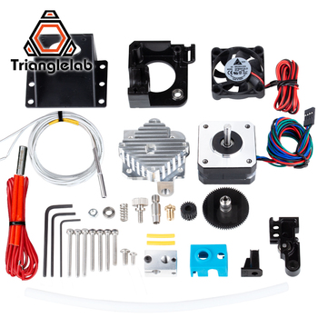 Trianglelab 3d printer Titan Aero V6 hotend extruder full kit titan extruder full kit reprap mk8  i3 Compatible TEVO ANET mellow all metal nf crazy hotend v6 copper nozzle for ender 3 cr10 prusa i3 mk3s alfawise titan bmg extruder 3d printer parts