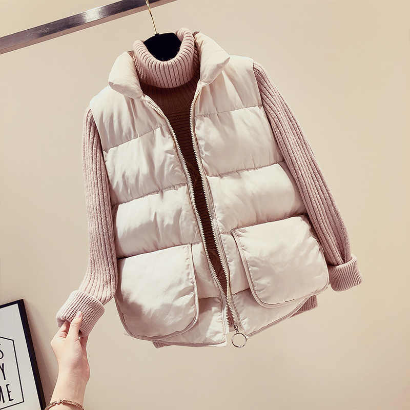 Cheap wholesale 2019 new autumn winter  Hot selling women's fashion casual female nice warm Vest Outerwear BP323