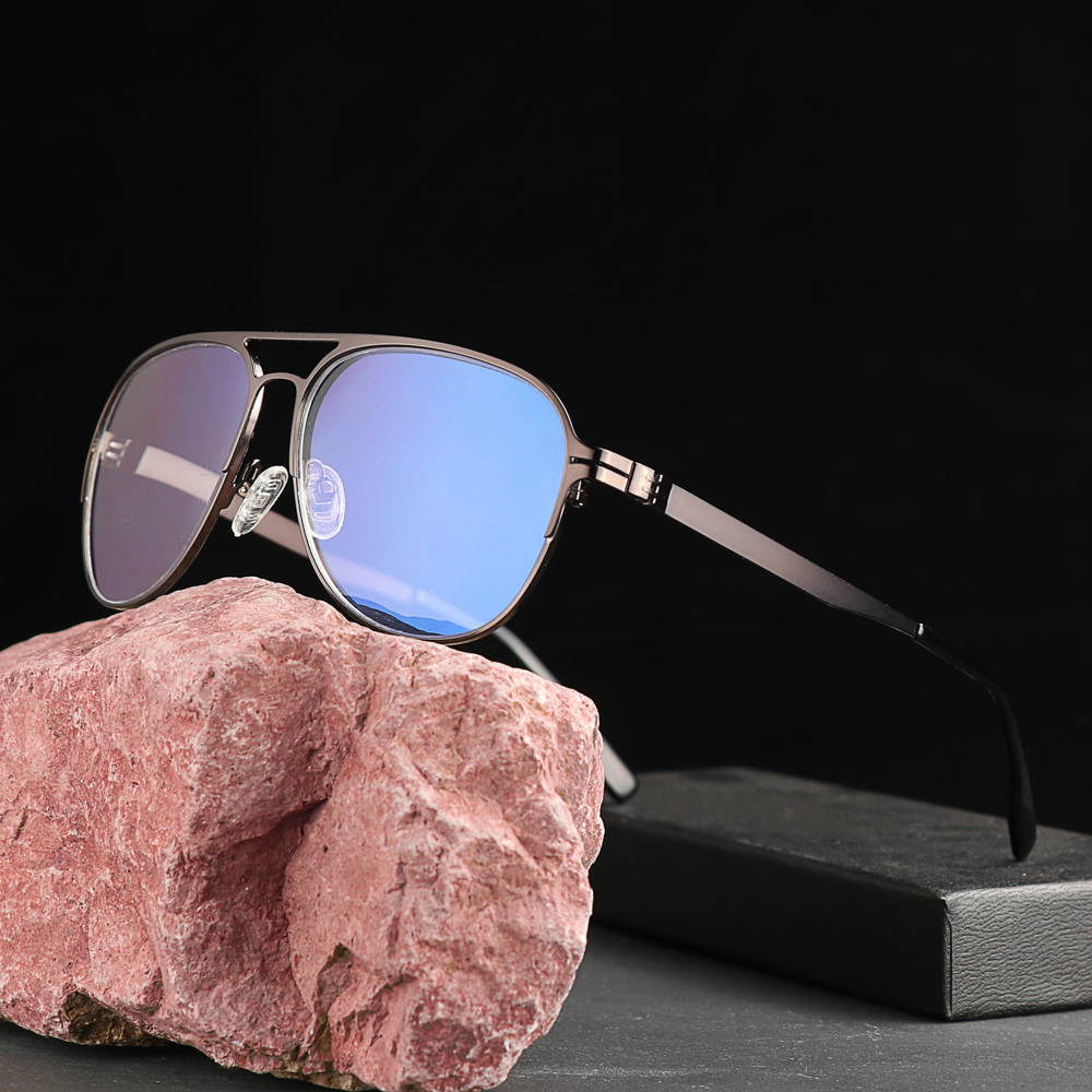 Titanium Alloy Anti-blue Progressive Multifocal Reading Glasses Smart Zoom Reading Glasses Men Far Near Presbyopic Glass