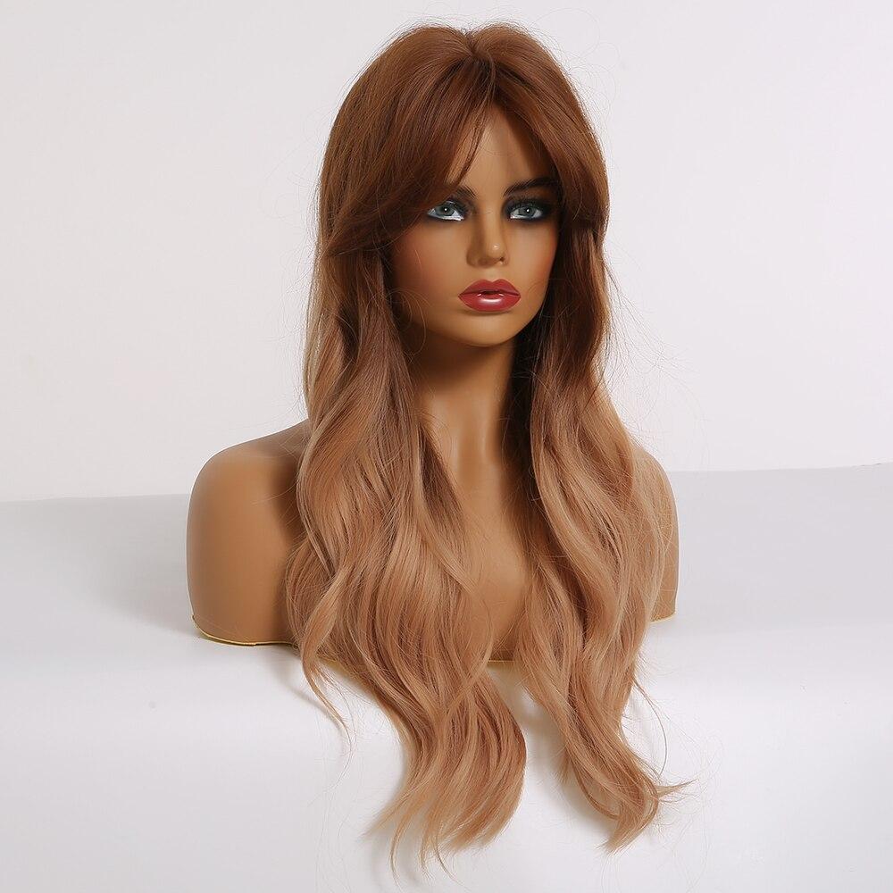 Easihair loira ondulado longo perucas sintéticas para