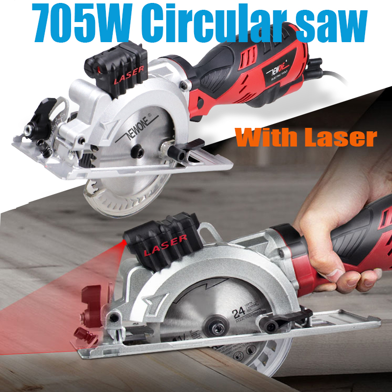 120V 230V 600W 705W Electric Power Tool Electric Mini Circular Saw With Laser multi-function Saw For Cutting WoodPVC Tube Tile