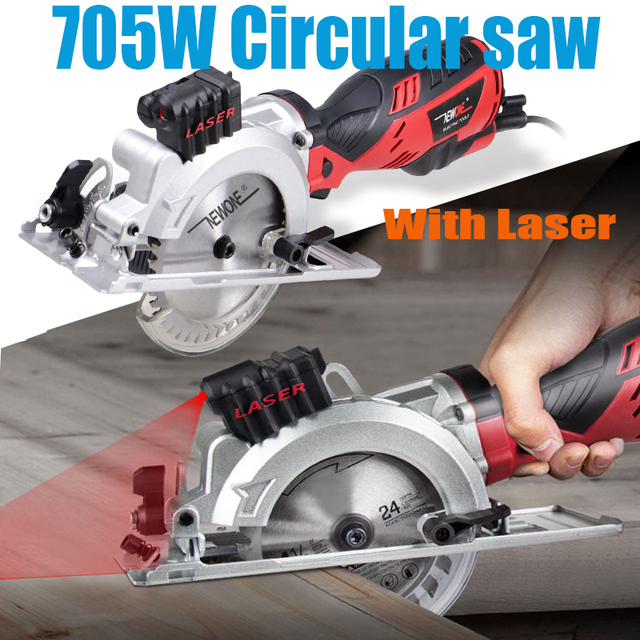 120V/230V 600W/705W Electric Power Tool Electric Mini Circular Saw With Laser multi-function Saw For Cutting Wood,PVC Tube, Tile