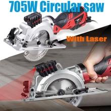 120V/230V 600W/705W 전력 도구 전기 미니 원형 톱 레이저 다기능 톱 목재, PVC 튜브, 타일 절단