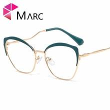 MARC 2019 NEW Arrive Brand Eyewear Reading Optical glasses Black Plain glass spectacles White Cat eye Women 95546