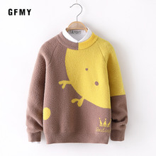 GFMY Autumn Winter Pictures Water velvet O-Collar Suitable Sweater For Boys and Girls Baby Warm Coat Kids Sweaters
