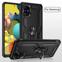 Armor Magnetic Case For Samsung Galaxy S20 S10 S9 S8 Note 9 8 10 Plus A51 A21s A20s A50 A70 A71 A20 A30 A81 A31 A20E Ring Cover