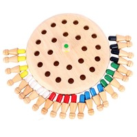 children Kids Memory Match Stick Chess Wooden Chess Checkers Board Game Family Party Game Puzzle Baby Educational Toys 1