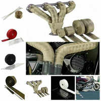 5M Auto Motor Turbo Hitzeschild Wrap Motorrad Abgas Wärme Band Wrap Rohr Wrap Shields Manifold Header Isolierung Tuch rolle