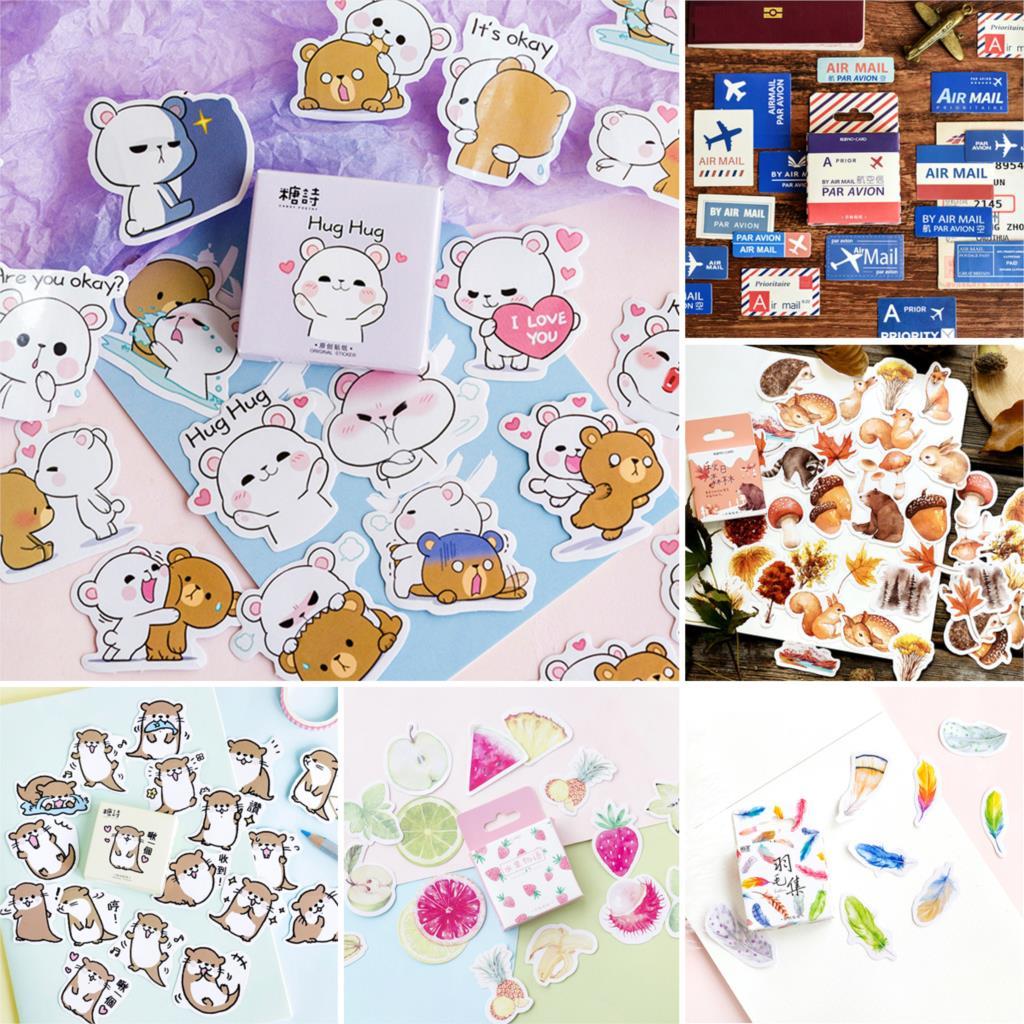 Mohamm Cute Kawaii Paper Craft Book Scrapbook Sticker Stationery School Supplies
