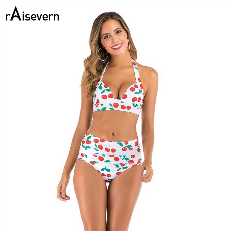 RAISEVERN High Waisted Bathing Suits for Women Two Piece Swimsuit Bandage Swimwear Bikini