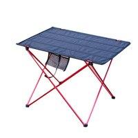 Открытый портативный складной стол для кемпинга патио мебель столы для пикника складной алюминиевый сплав стол Камп табло оранжевый