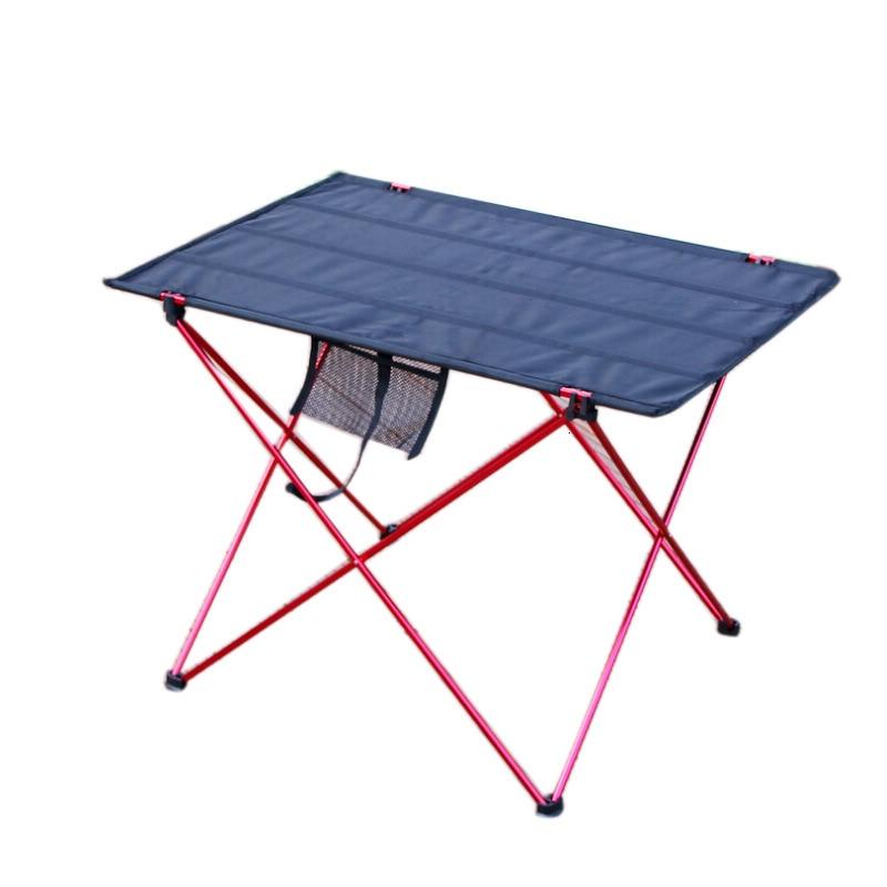 Outdoor Portable Foldable Table Camping Patio Furniture Tables Picnic Aluminium Alloy Folding Desk Kamp Tablo  Orange