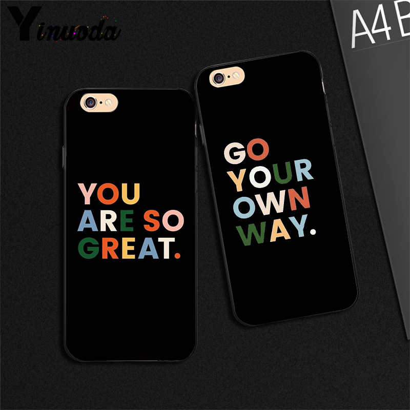 Yinuoda Black Background Color Text Maxim Silicone Black Phone Case For Iphone 6s 6plus 7 7plus 8 8plus X Xs Max 5 5s Xr Half Wrapped Cases Aliexpress