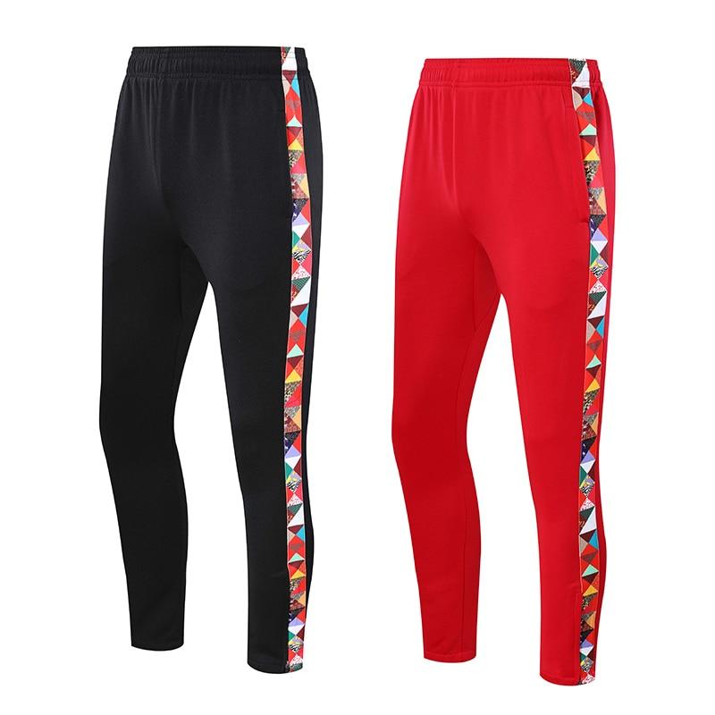 Calças de Treinamento Calças dos Homens Esportes Correndo Calças Listradas Impressão Feminina Mid-cintura Bolso Pant