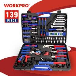 WORKPRO 139PC ensemble d'outils de réparation à domicile Kits d'outils ménagers jeu de tournevis