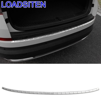 Car Auto Automobile Chromium Trunk Rear Panels Foot Pedal Exterior Accessory Modification Decoration 18 19 FOR Skoda Kodiaq
