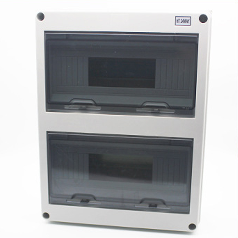 24 Way Plastic Electrical Distribution Box Waterproof MCB Box Enclosure Box Junction Box HT Series