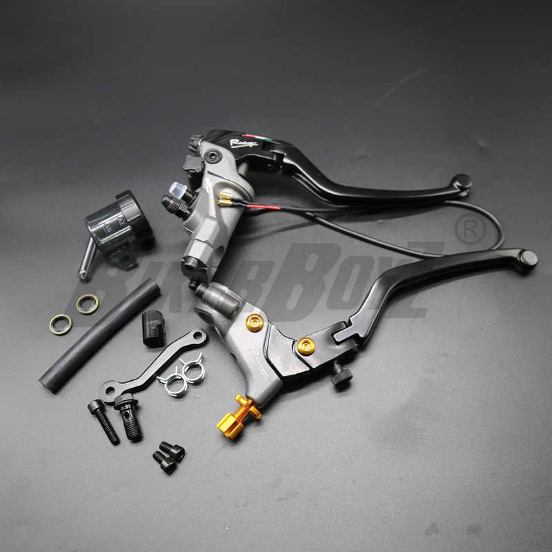 19 RCS pompa freno radiale 22mm frizione cavo cilindro freno moto universale per Honda Yamaha Kawasaki Suzuki