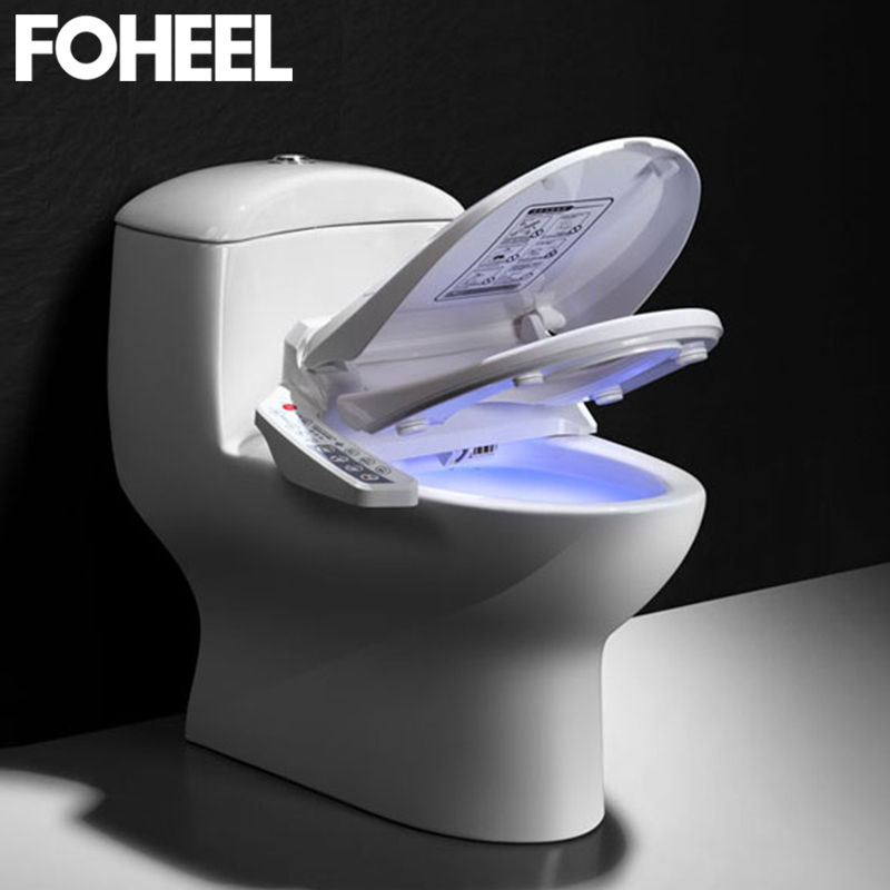 FOHEEL Inteligente Assento Do Vaso Sanitário Tampa Bidé Bidé Inteligente Elétrica de Calor Seco E Limpo Massagem Assento Do Vaso Sanitário Inteligente